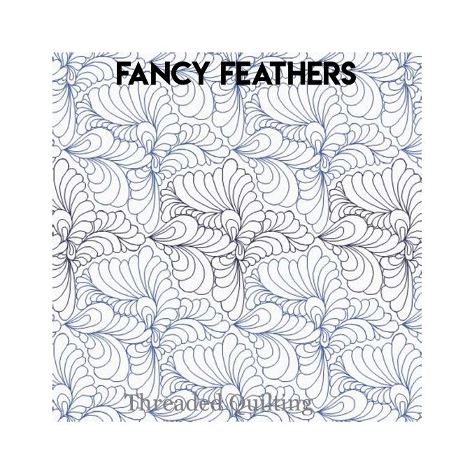 Fancy Feathers - Threaded Quilting