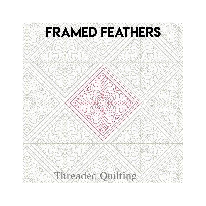 Framed Feathers - Threaded Quilting