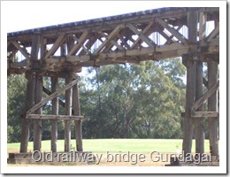 Old railway bridge Gundagai