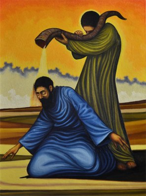Moses Anointing Aaron (in progress)
