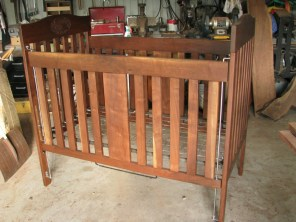 Walnut Crib