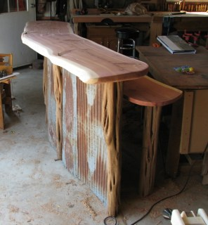 Trade Show Booth (Cedar and tin)