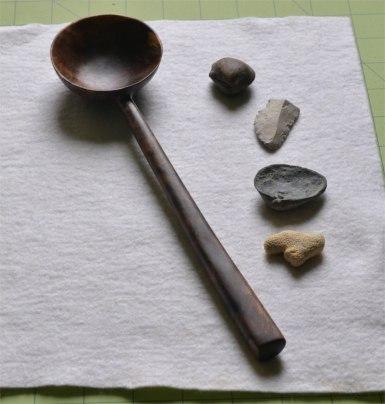 black walnut cooking spoon