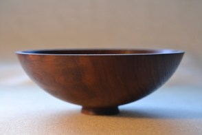 black walnut footed bowl