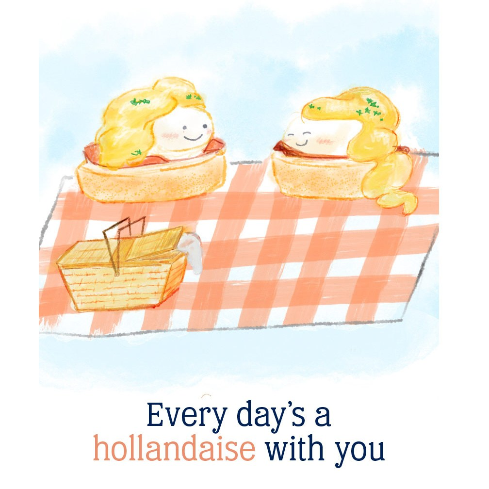 every day's a hollandaise with you: eggs Benedict on a picnic