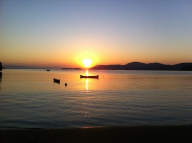 Beautiful sunrise in Paraty