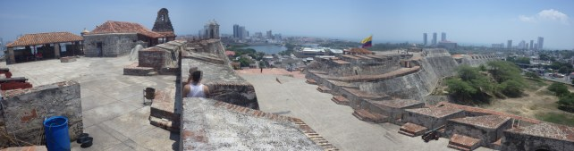Panoramic view of the entire fortress