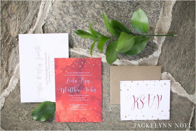 Overview of the wedding invitations I created.