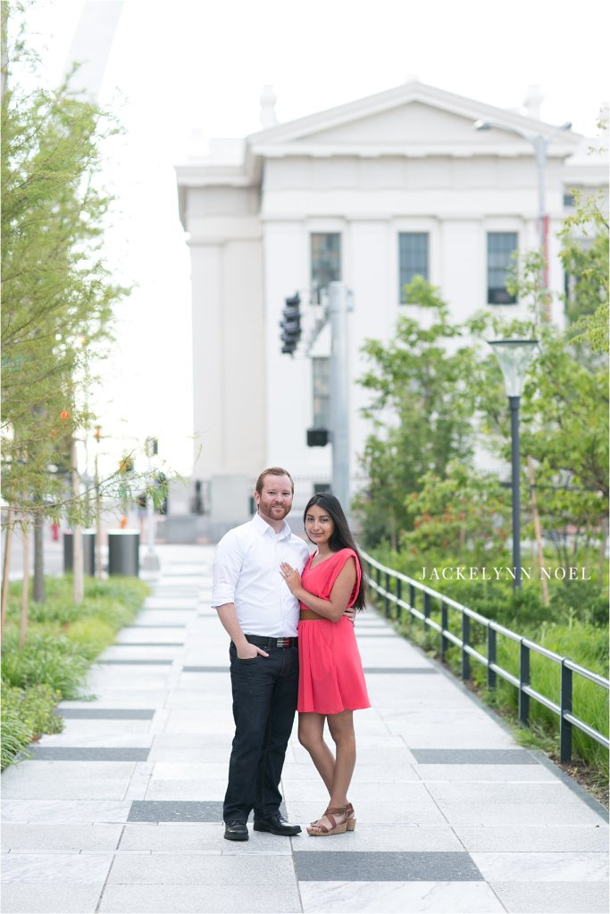 Alex and Cristina Engaged at the Old Courthouse by Jackelynn Noel photography