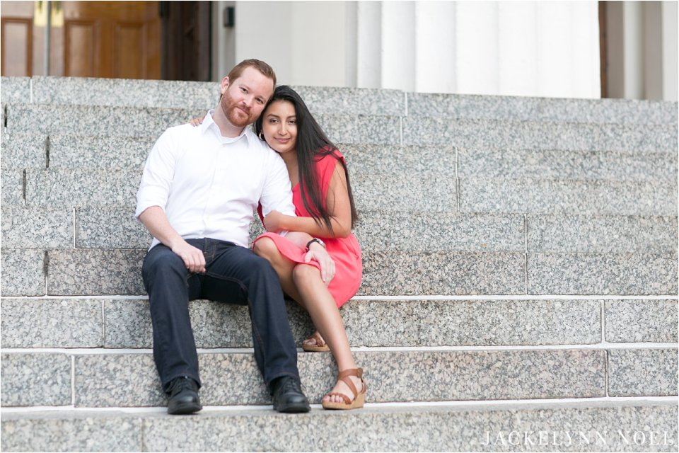 Alex and Cristina Engaged at the Old Courthouse, Kiener Plaza, and City Garden by Jackelynn Noel photography