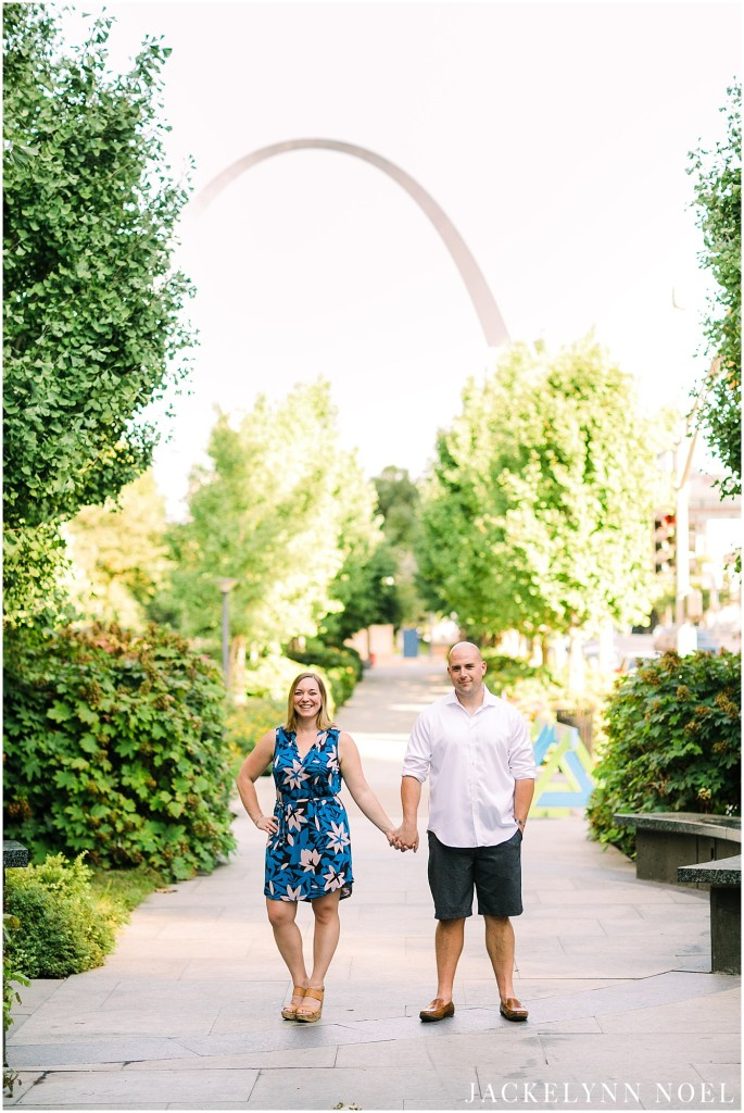 Danielle & Ian's downtown St. Louis Engagement Session