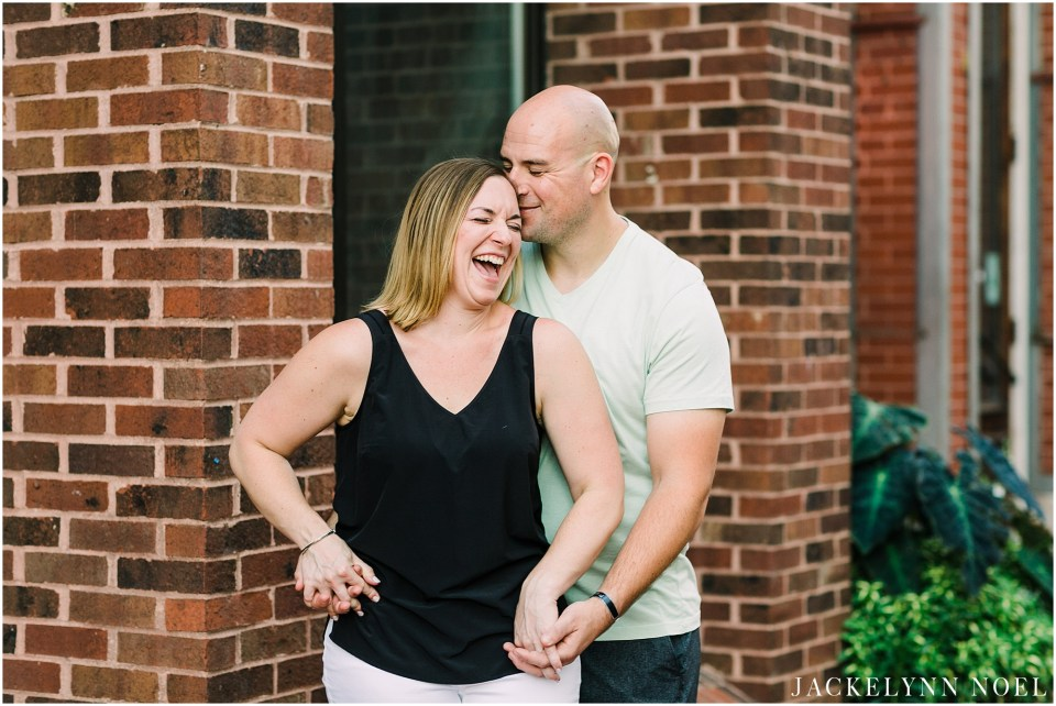 Danielle & Ian's downtown St. Louis Engagement Session by Jackelynn Noel Photography