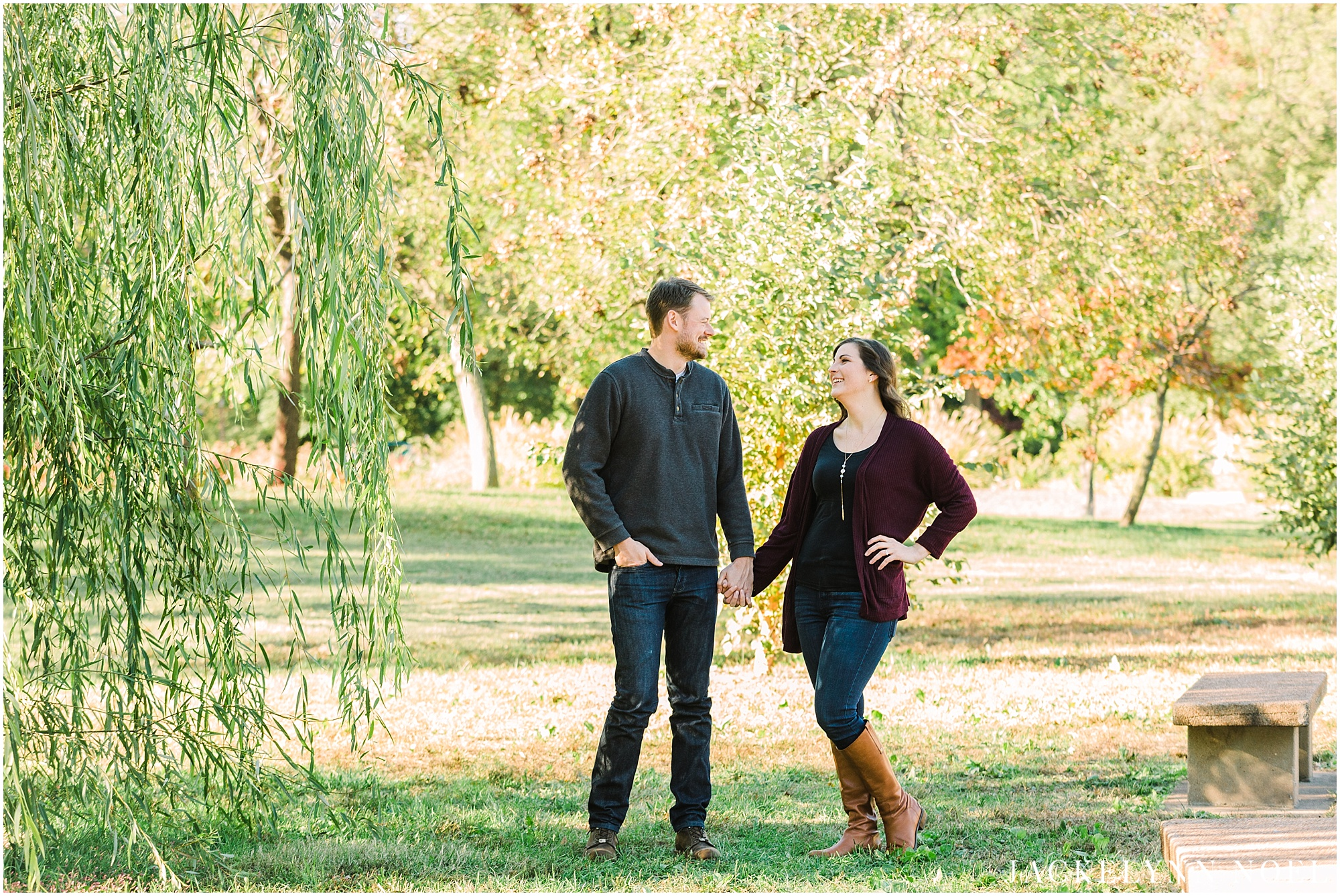 Danika & Joe engagement session at Tower Grove Park by Jackelynn Noel Photography