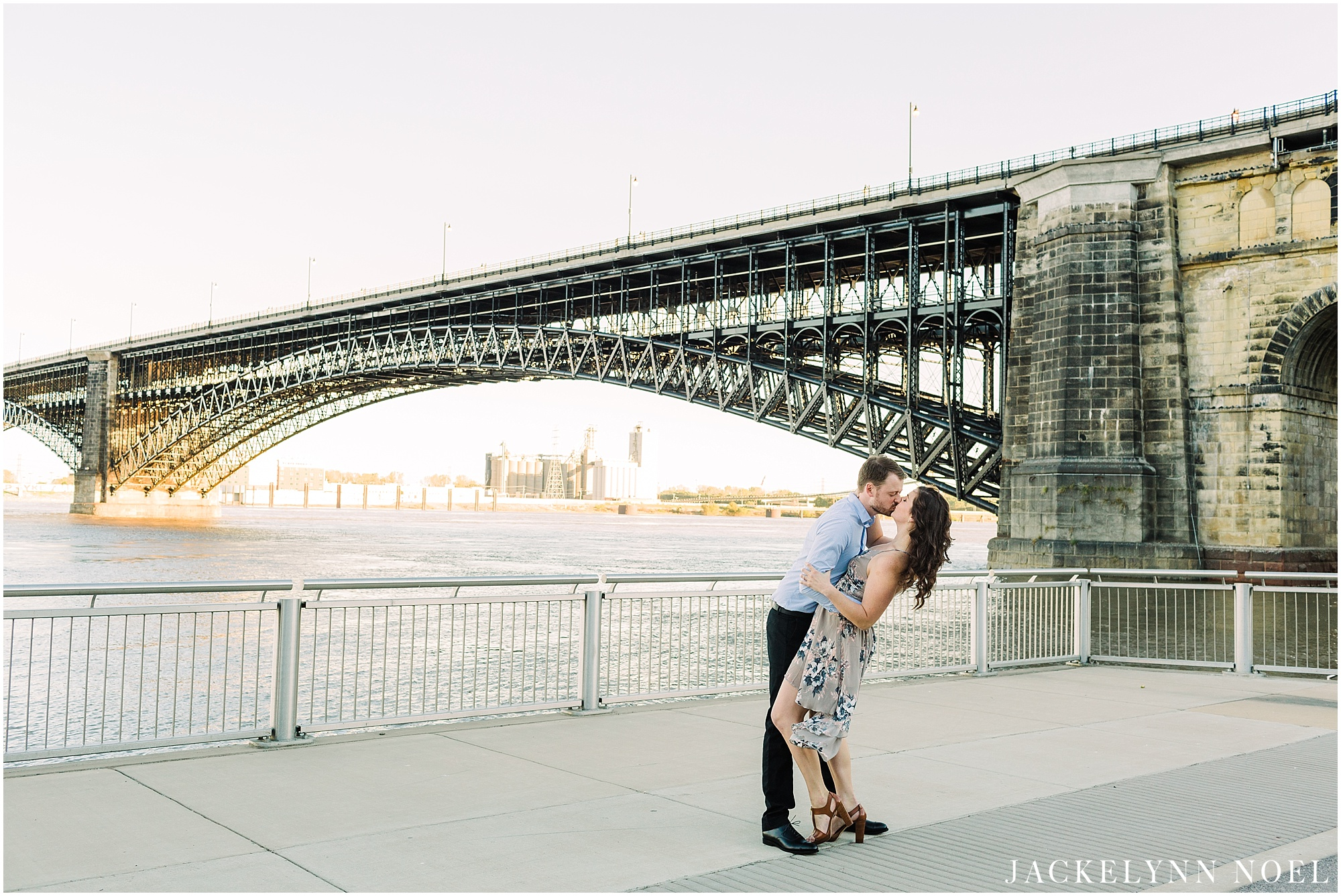 Danika & Joe engagement session at the St. Louis Eads Bridge by Jackelynn Noel Photography