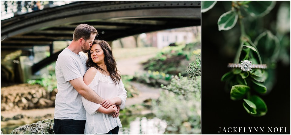Alison and Tony's engagement session at St. Louis Lafayette Park.