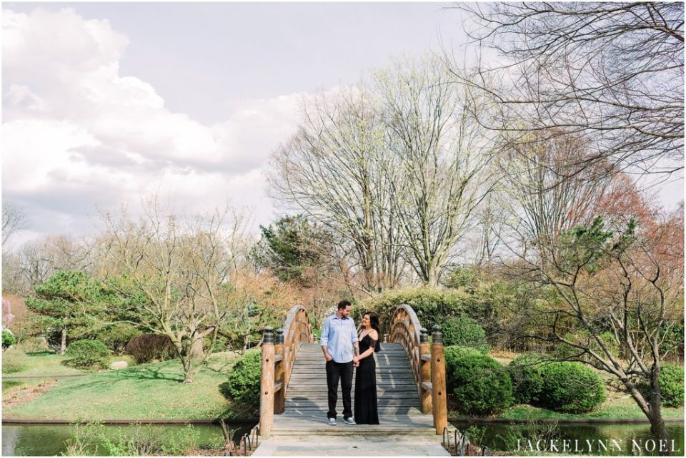 Alison and Tony's spring engagement session at Missouri Botanical Gardens in St. Louis.