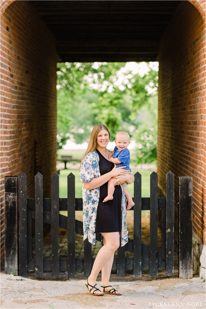 First Birthday session Historic Main Street St. Charles by Jackelynn Noel Photography