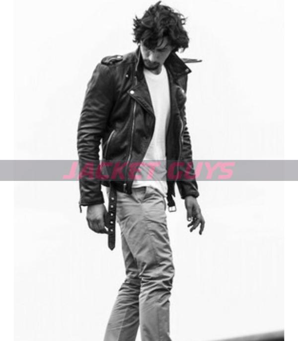adam driver leather jacket for sale