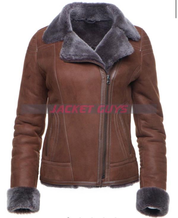 women's shearling coat buy now