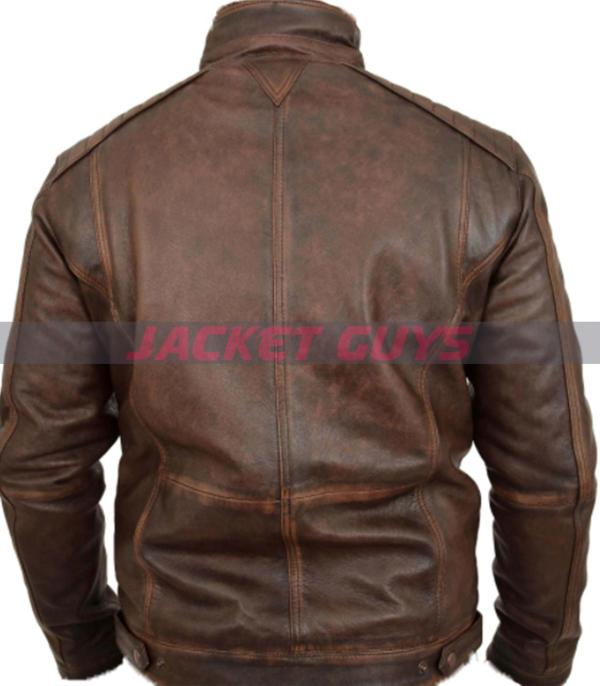 buy now mens distress brown leather jacket