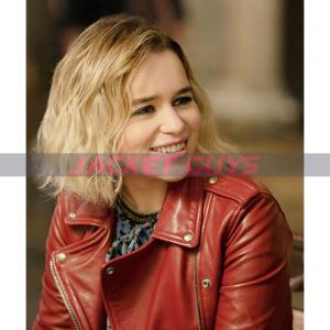 buy now last christmas leather jacket by emilia clarke