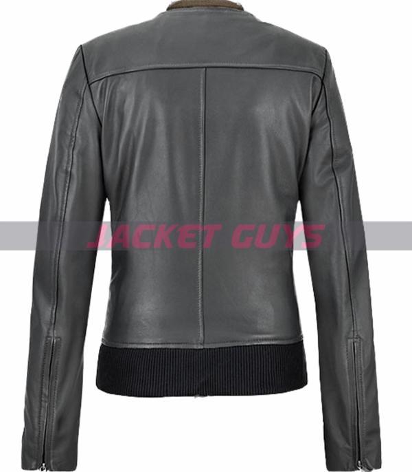 shop now jennifer aniston green leather jacket