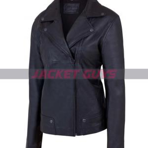 buy now womens classic black leather jacket