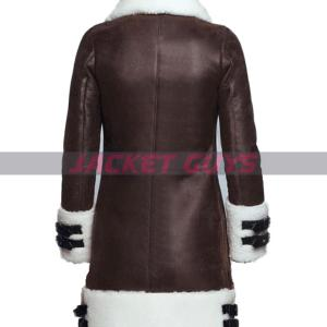 on sale gorgeous shearling leather coat