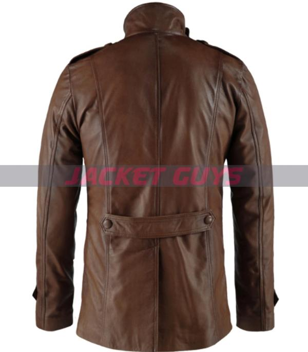 brown leather jacket on discount