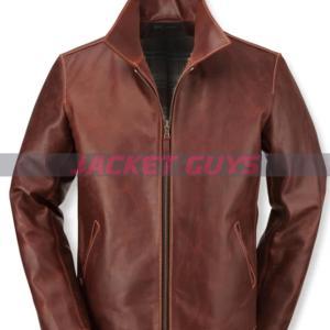 buy now men's brown leather jacket