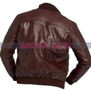 for sale men dark brown leather jacket