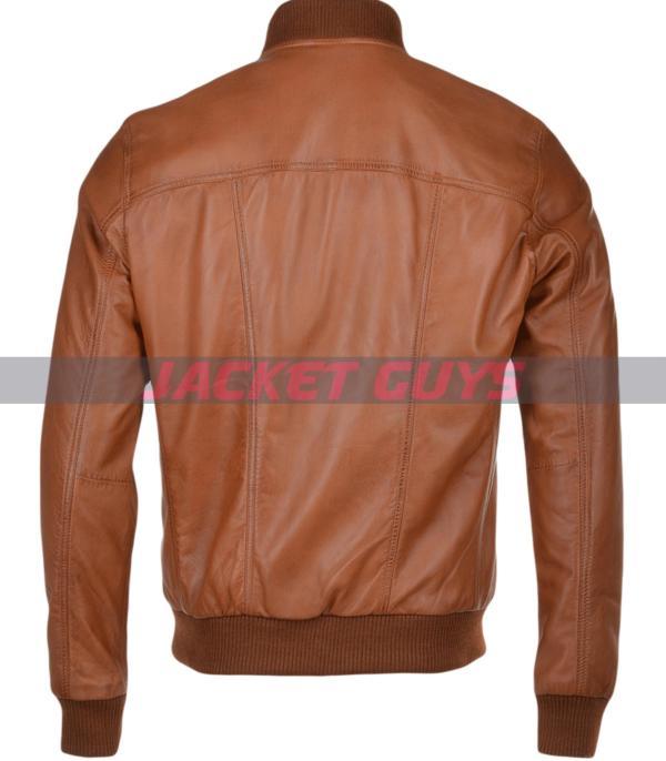 men light brown biker leather jacket on sale