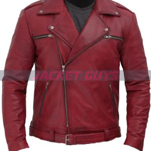 for sale maroon leather jacket