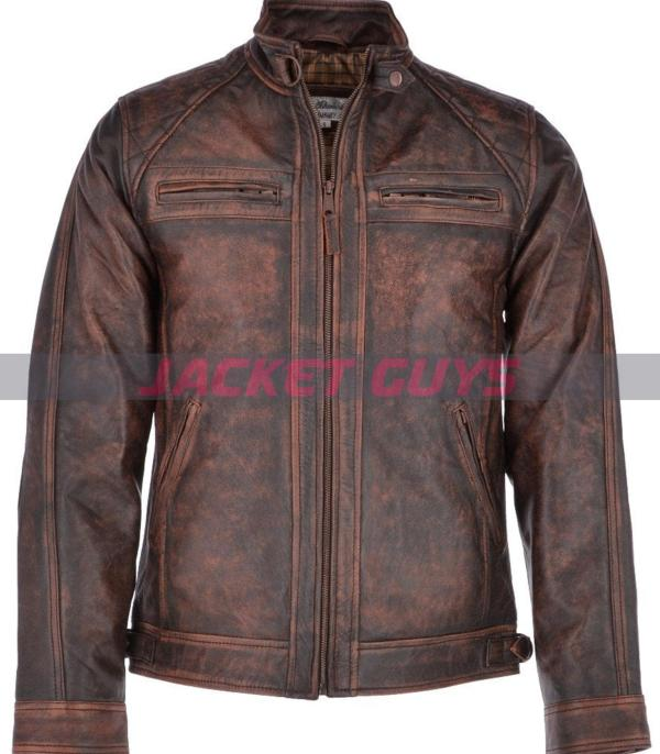 on sale men rusty bronx leather jacket