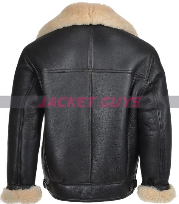 on sale mens black aviator leather jacket