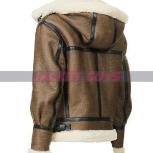 on sale women's aviator leather jacket