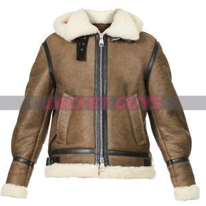 buy now women's aviator leather jacket