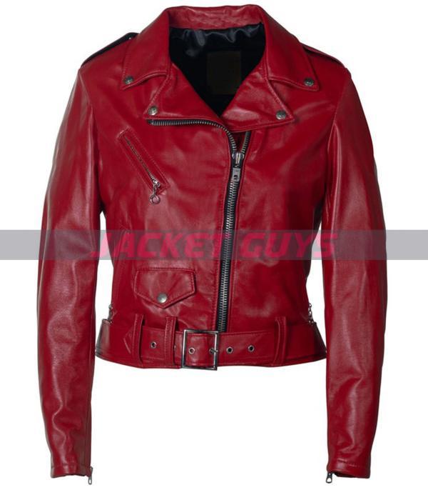 buy now women biker leather jacket