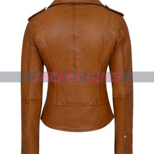 buy now ladies tan brown leather jacket