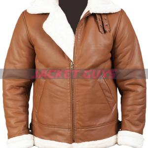 shop now mens brown shearling leather jacket