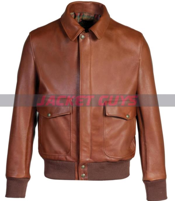 for sale mens lightweight brown leather jacket