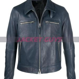 buy now mens dressy with tie leather jacket