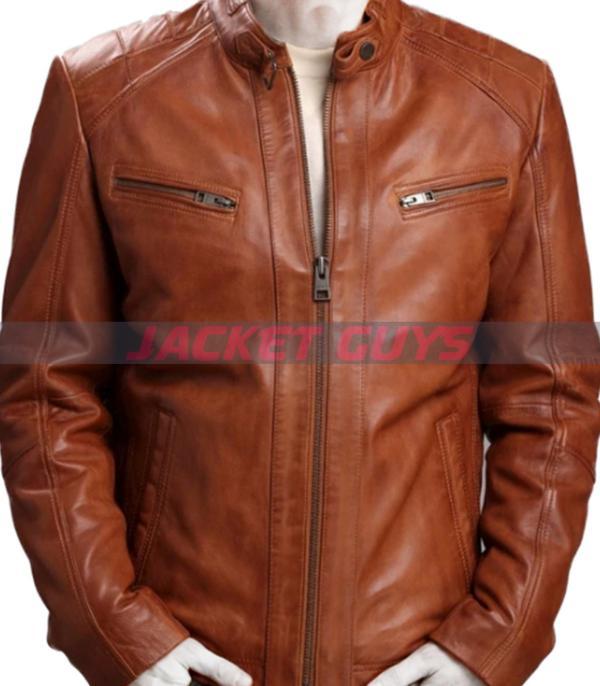 men brown soft leather jacket on sale