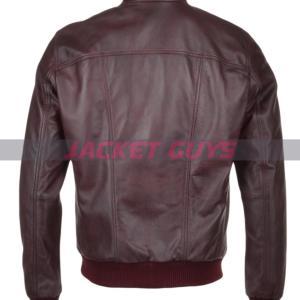 on discount men burgundy leather jacket
