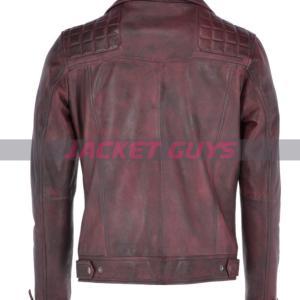 buy now men distress burgundy leather jacket