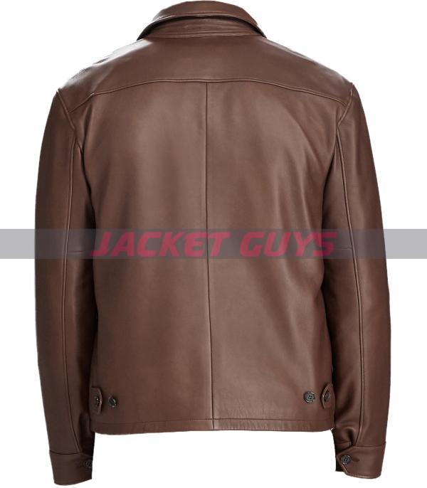 for sale mens dressy brown leather jacket