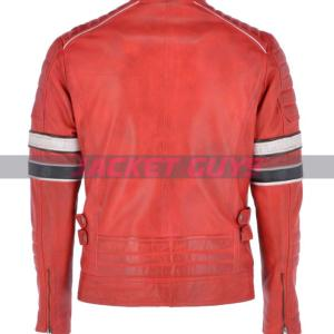buy now men red leather jacket buy now