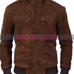 mens dark brown suede leather buy now