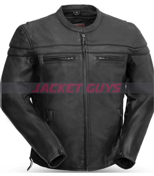 mens armoured leather jacket on sale