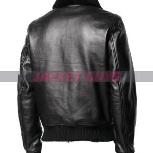 for sale mens aviator black leather jacket
